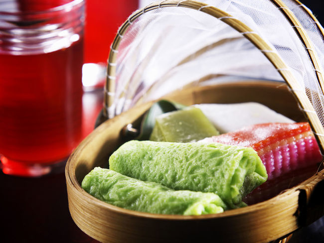 nyonya kueh Lapis Malaysia Food Snack Tea Break Basket Close-up Colorful Day Food Food And Drink Freshness Healthy Eating Indoors  Malay Food No People Nyonya Food Nyonya Kueh Sweet Food Traditonal