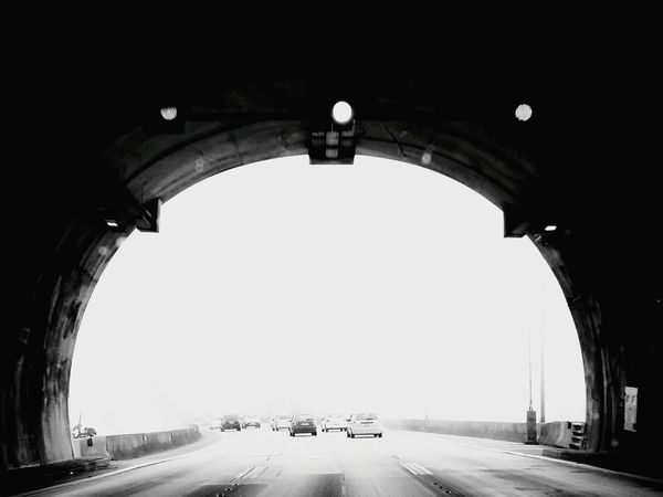 The Drive Way To The Beach Montain Road Roadscenes Foggy Weather Tunnel View Eyeemcollection Monochrome Photography