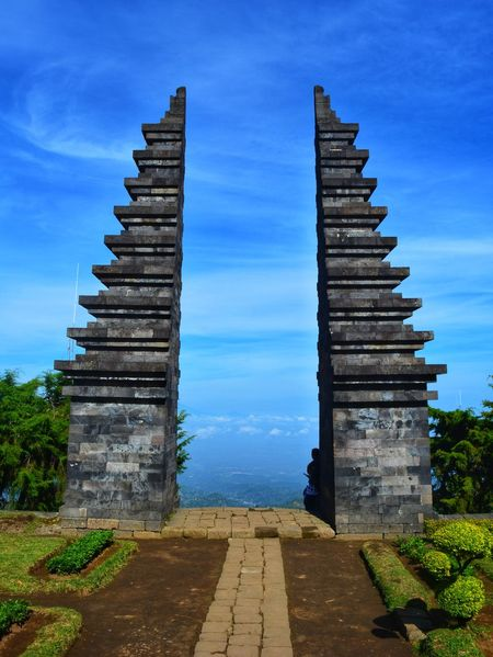 Cetho Temple History Architecture Outdoors Travel Destinations Building Exterior Day No People Sky Architecture Ancient Old Blue Sky Landscape Mountain View Temple Hindu Temple Majapahit
