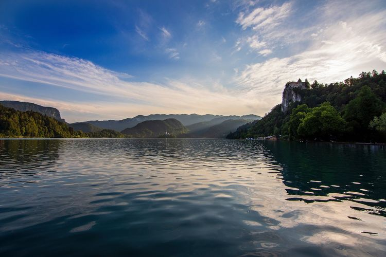 Lake Bled Water Sky Cloud - Sky Beauty In Nature Tree Scenics - Nature Nature Lake Reflection Sunset Outdoors No People