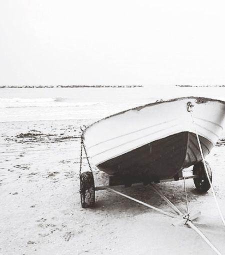 Sea Beach Boat Blackandwhite Black And White Landscape #Nature #photography Landscape_photography Landscape Showcase: February Rimini Riminibeach Italianlandscape Italian Beach Italy