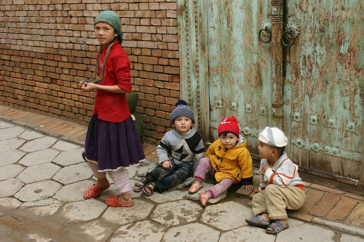 Xinjiang Of CHINA Urumqi Children Childhood Lifestyles Innocence Children Portraits Children Of The World Simple Beauty Moments Of Color Capture The Moment People And Places People And Places. What Who Where The Street Photographer - 2017 EyeEm Awards Connected By Travel The Street Photographer - 2018 EyeEm Awards
