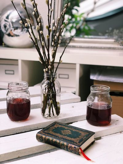 Tea time Relaxing Moments Table Jar Vase Flower No People Indoors  Nature Close-up Day
