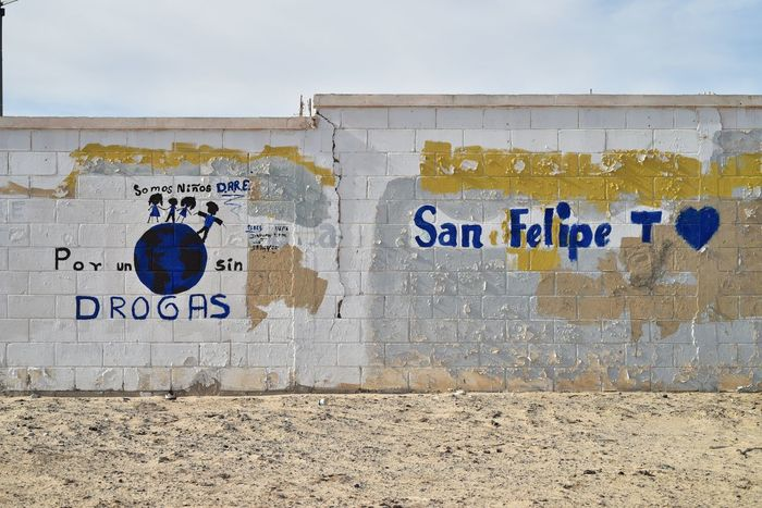 had painted message on walls of abandoned structure in San Felipe, Baja, Mexico Mexico San Felipe Spanish Language Abandoned Architecture Baja Built Structure Close-up Communication Day Guidance No People Outdoors Text Urbex Wall - Building Feature