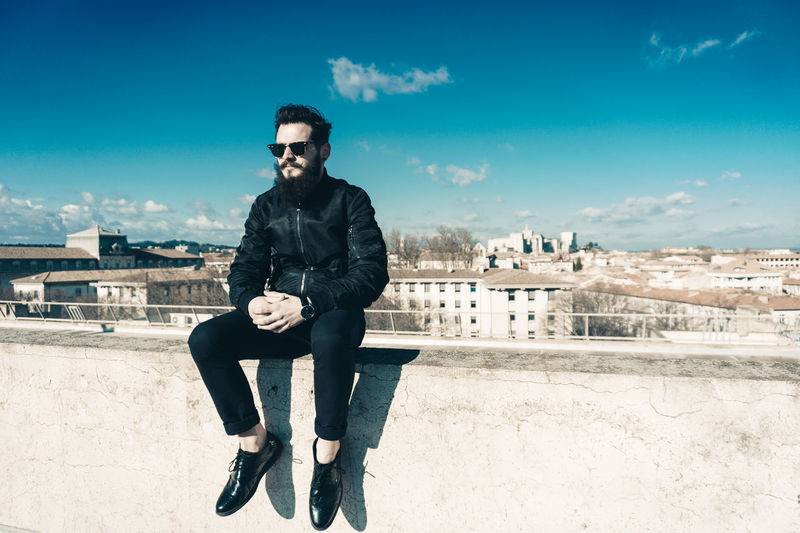 Architecture Only Men One Man Only One Person Cityscape Day Outdoors Sky Winter Sitting EyeEmNewHere Adapted To The City Theyom Avignon Photooftheday Street Photography Street Life Streetphotography Beautiful People City Street People Mode Style And Fashion Modeling Shoot