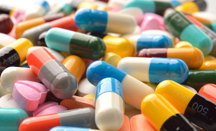 Full frame shot of multi colored medicines