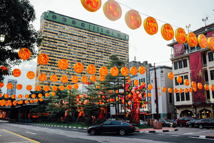 ASIA Building Building Exterior Built Structure Chinatown Chinese Chinese New Year Chinese New Year 2016 City Life City Life City Street Land Vehicle Lightning Monkey Outdoors Road Sign Singapore Sky South East Asia Street Streetphotography Traffic Travel Wanderlust Year Of The Monkey