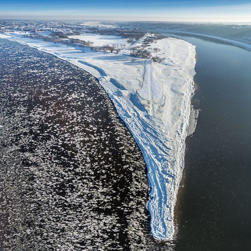 Winter Aerial View Nature Winter Cold Temperature Snow Day Scenics Sea Beauty In Nature Environment Outdoors Landscape Polar Climate Ice Water Horizon Over Water Sky Glacier Lietuva Drone  Dronephotography Aerial Photography Confluence River