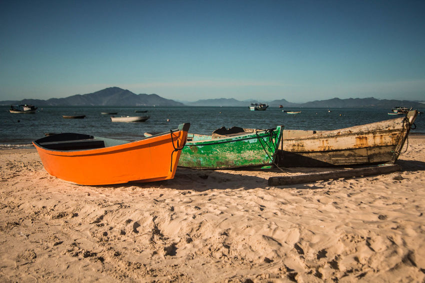 Composition Beauty In Nature Boat Calm Nature Outdoors Sand Scenics Sea Shore