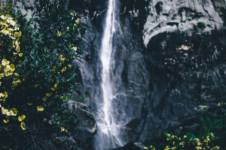 Bridalveil Fall Close Up of Waterfall Beauty In Nature Day Freshness Motion Nature No People Outdoors Rock - Object Scenics Water Waterfall