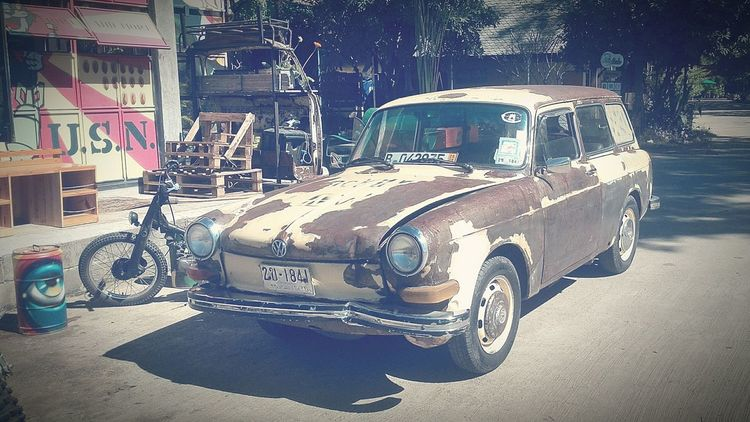 Old retr Retro Styled Old-fashioned Land Vehicle Transportation Car Rat Look Ratlook No People