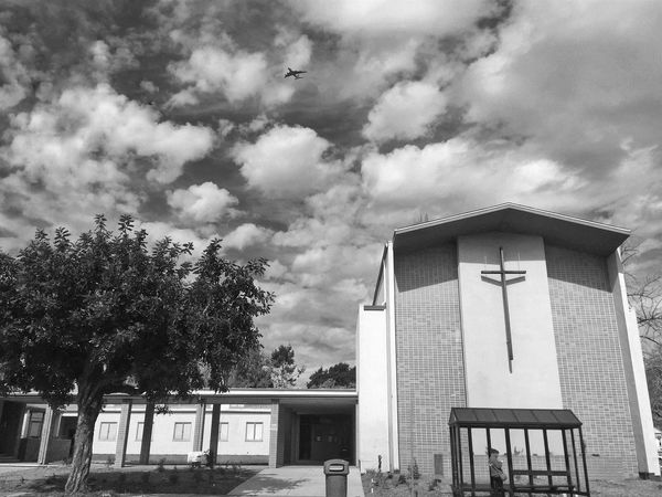 Church Small Town USA Blackandwhite Black & White Bus Stop Everyday Lives