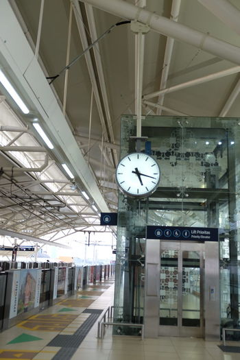 MRT Jakarta Station Clock Time Rail Transportation Transportation Railroad Station Public Transportation Indoors  Train - Vehicle Train Railroad Station Platform Mode Of Transportation Instrument Of Time Architecture Ceiling Communication Wall Clock Minute Hand Accuracy Clock Face Travel Built Structure Mrt Station MRT Jakarta