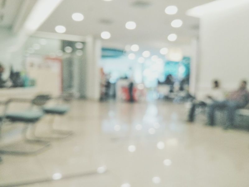 Defocused Surface Level Illuminated Hospital Hospital Time Defocus Manual Focus Bokeh Waiting Defocused Background Company Corperates Lobby Over The Counter Counter Cashier