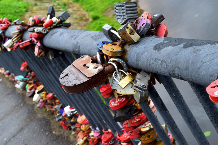 Locks Close-up Day Hanging Hope Large Group Of Objects Lock Love Love Lock Metal No People Outdoors Padlock Protection Safety Variation