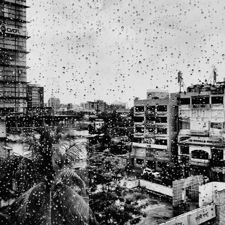 Rain in the City Office Building Development B&w PhotographyRain Water Sky Building Story Urban Skyline Growth City Life Tranquility City Life Cityscape Modern City Tall - High B&W Obsession Building Exterior Window Wet Transportation Car Mode Of Transport Drop