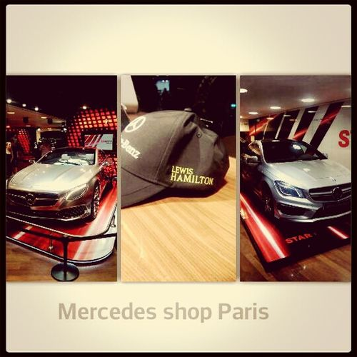 Mercedes shop Parijs