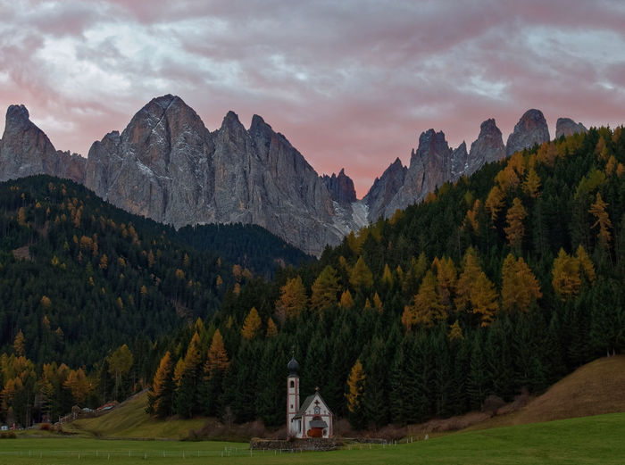 Alto Adige Autumn Dolomites, Italy Pink Southtyrol  Südtirol Alba Iulia Beauty In Nature Brixen  Cloud - Sky Day Funes Geisler Italy Mountain Mountain Range Nature No People Odles Outdoors Scenics Sky Sunrise Tree Villnöss