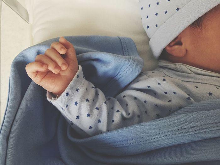 Close-Up Of Newborn Baby