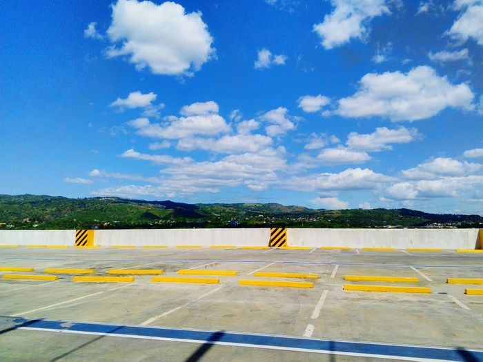 Road Airport Runway Outdoors Day Sky No People