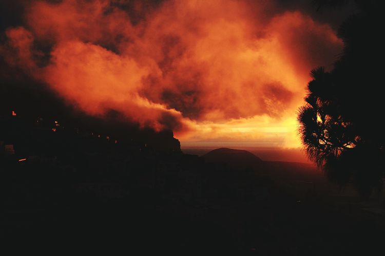 Canon_photos Canon Tenerife España Panorama Sunrise And Clouds Amazing Beach Sunset Mountain Colors Sky Colors