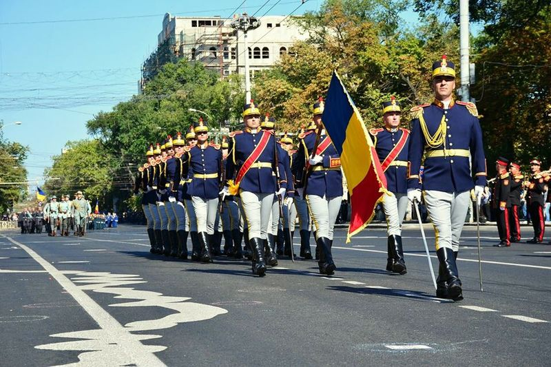Solider Salutes Romanian Solisders Independence Day Republic Of Moldova Celebration Parade Time