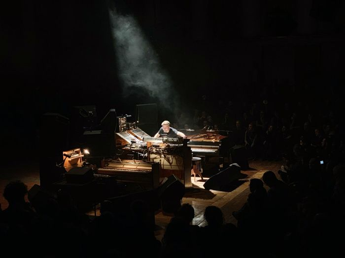 Nils Frahm Night Arts Culture And Entertainment Music Musical Instrument Performance Musician Occupation Musical Equipment Performing Arts Event Light - Natural Phenomenon Stage Crowd Artist Analogue Sound