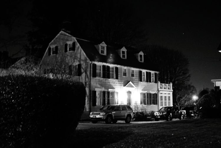 Amityville Horror Night Architecture Building Exterior House Illuminated Sky No People Star - Space Amityville