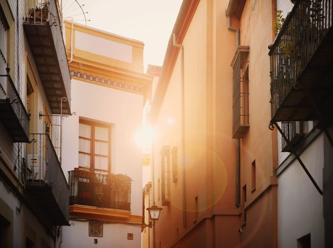Beautiful fresh morning Colors Color Andalucía SPAIN Seville Morning Light Morning Architecture Built Structure Building Exterior No People City Outdoors Day