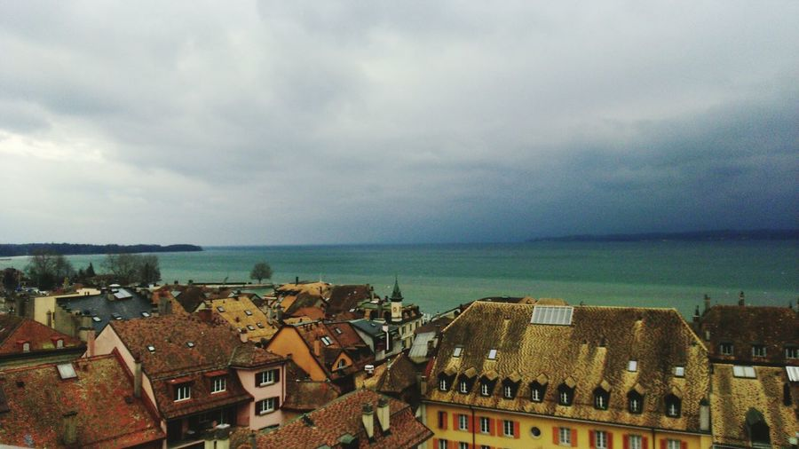 Nyon Switzerland Suisse Romande Suisse  Lac Lac Léman Medieval MedievalTown Lac View Winter Stormy Weather Stormy Sky Stormy Day Old Houses Colorfull Colorful