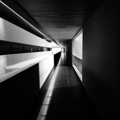 Blackandwhite Hallway Shadows Shadows & Lights Vanishing Point Dubai