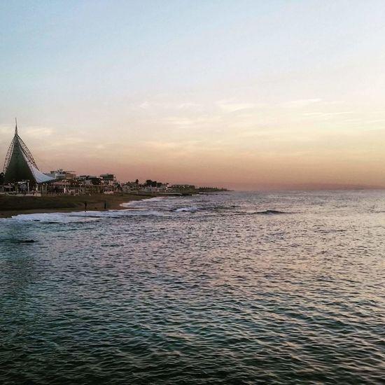 Vacation time in israel. Sunset Sea Beach Travel Sky Water Israel Northofisrael Nahariyya Esplanade Vacation