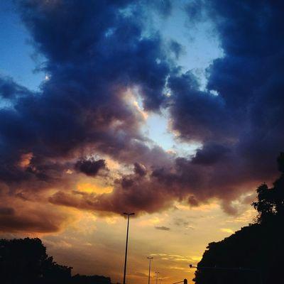 Sunset Pordosol Orange Natureza Nuvens Brasília Sky Nature Bsb Sky
