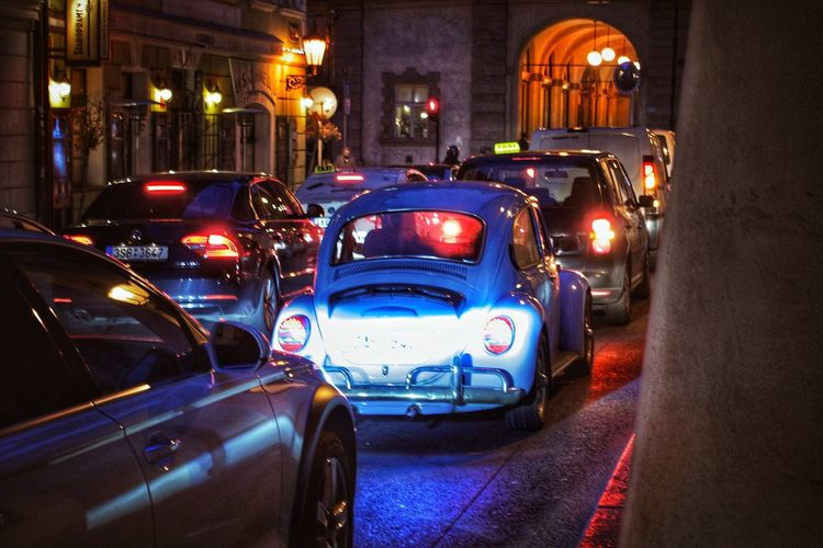 Same in the future Car Illuminated Night Transportation City No People Outdoors