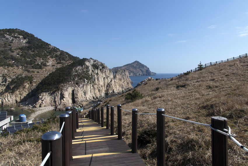 seaside view of Deungdaeseom Island (lighthouse island) by Somaemuldo in the sea of Tongyeong, Gyeongnam, South Korea. Deungdaeseom Island View  Low Angle View Nature's Beauty Nikon D850 Tongyeong Beauty Of Nature Bright Day D850 Horizon Over Sea Outdoor Outdoors Peace In Island Peaceful Day Peaceful Island Life Seaside Seaside View Somaemuldo View Of Island