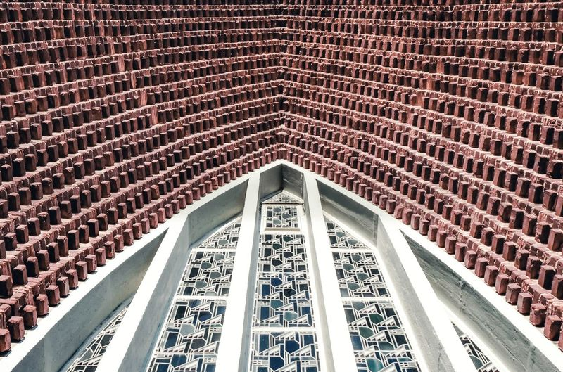 Architecture Built Structure Low Angle View Pattern Ceiling No People Day Design Arch Building Architectural Feature Repetition Full Frame Luxury Wall Architecture And Art Ornate Outdoors Perspective Ship Place Of Worship Church Brickwall Window Abstract