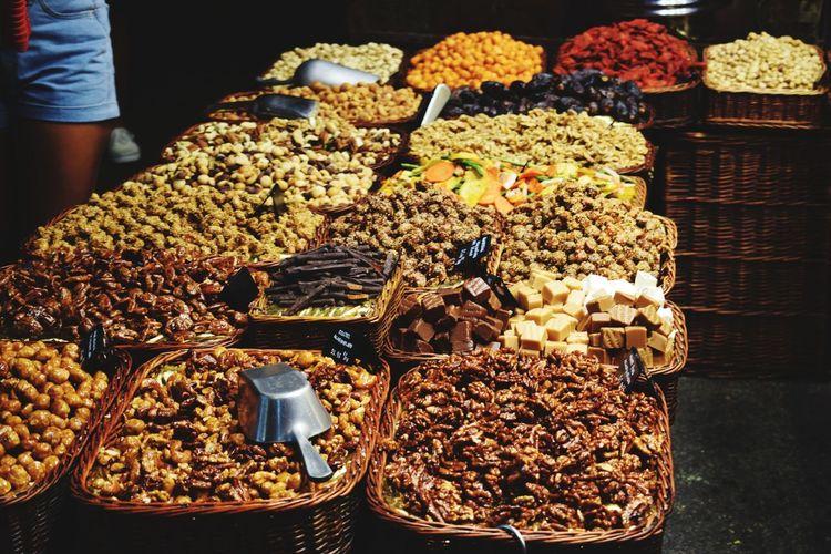Dried Food Food Food And Drink Variation Abundance Choice Dried Fruit Healthy Eating Nut - Food Market People Freshness Raisin Barcelona