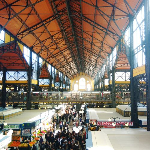 Budapest market hall Budapest Market EyeEm Selects Colorful Orange Color Crowd Supermarket Modern City Business Architecture Built Structure