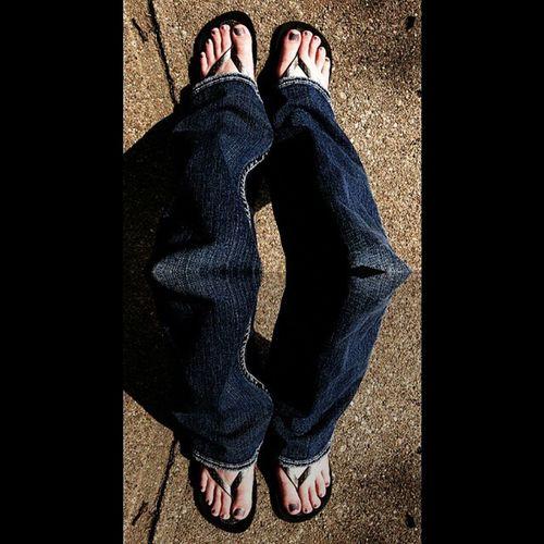 Selfie Campaignforartisticselfies Selfie Halfselfie Legs jeans feet sandals me girl funny enjoy