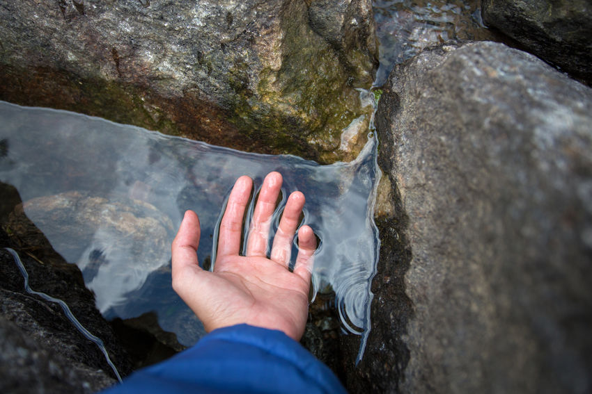 Touch the Water Adult Adults Only Close-up Day Drink Drinking Freshness Hand High Angle View Human Body Part Human Hand India Leisure Activity Low Section Nail Polish Nature One Person Outdoors People Personal Perspective Rock - Object Thristy Water Water Reflections Waterfall