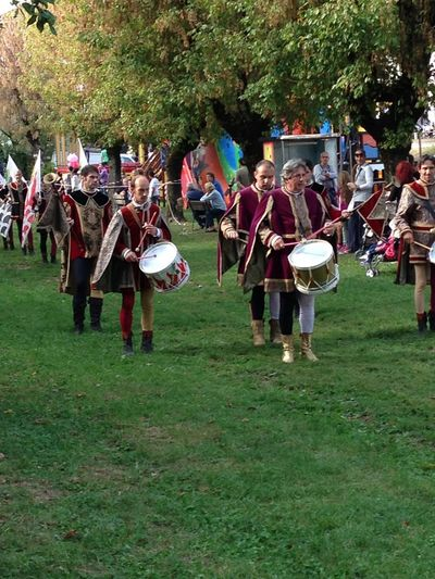 Fiera di San Zeno Bereguardo Lombardia Italy Fair Crowd Group Of People Large Group Of People Real People Grass Plant Arts Culture And Entertainment Artist Traditional Clothing Field Music Event Musical Instrument Performance Tree Day Celebration Clothing Land Musician