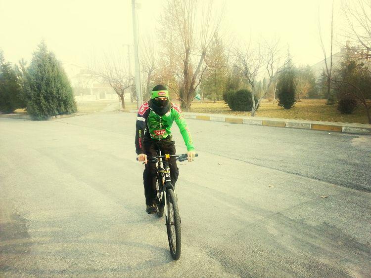 Cycling Bisiklet Tutku Soguk hava buz gibide olsa bu sevda bambaşka