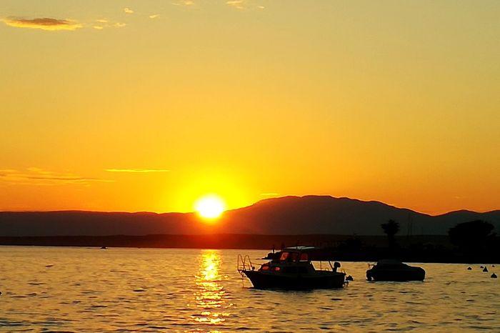 Wather Calme Kalm Sunset Sunlight Sun Summer Bateau Ship Coucher De Soleil
