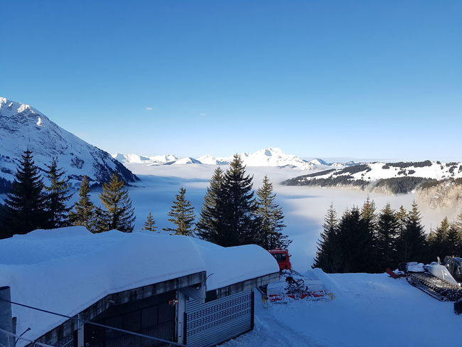 Avoriaz France Mountains Shades Of Winter Pretty Calm Fog Cloud Snow Mountain Winter Tree No People Mountain Range Snowcapped Mountain Cold Temperature Sky Nature Outdoors Day Beauty In Nature
