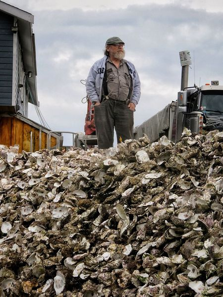 King of the hillStanding on a big pile of oyster shells 11586185 Oyster Shells Clouds And Sky Male BIG Pile Done That. Bc Aw Shucks Lost In The Landscape Second Acts This Is Aging