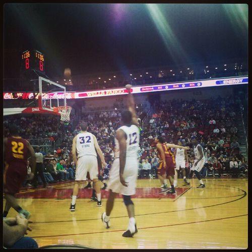 Iowa Energy game with Trey. Row1 Seat1