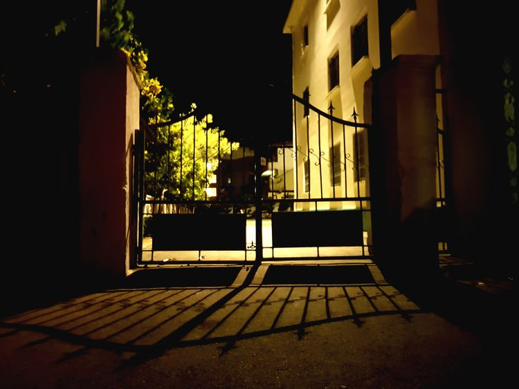 Night Gate No People Shadow Illuminated Outdoors Sky Monotony EyeEmNewHere Closed Door Lostsouls