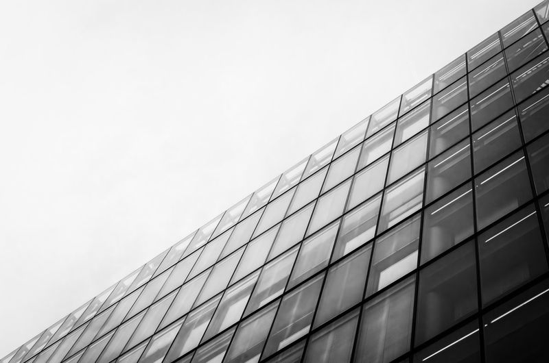 Architecture Building Exterior Modern City Low Angle View Black And White Photography Bnw Black & White Building Architectural London Glass Looking Up The Architect - 2017 EyeEm Awards Black And White Friday