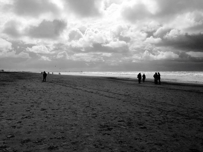 I made this picture on the beach in Scheveningen, the Netherlands today. As you can see, the weather was very stormy.