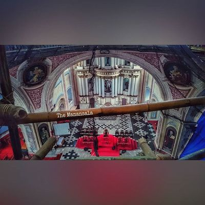 Up here inside the dome ⛪ . . . Unite4heritage Heritage Church Vintage architecture ican xperia xperiadetails tayabas quezon themanansala